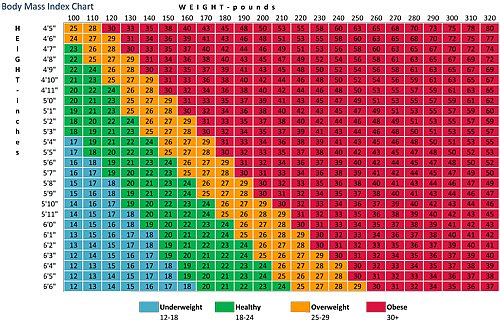 bmi chart in kg and cm pdf